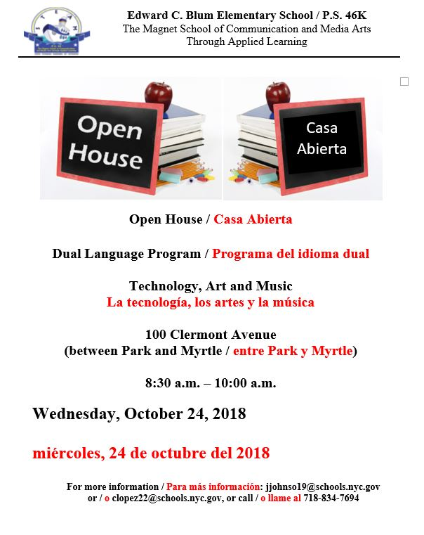 PS 46 OPEN HOUSE