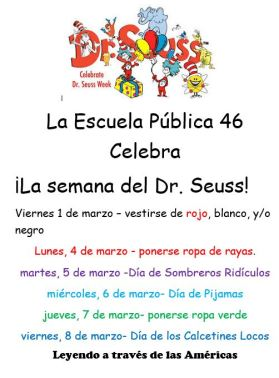 Dr Suess Week Spanish